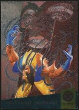 1994 Fleer Ultra X-Men WOLVERINE Limited Edition Etched Foil Insert Card #4