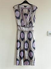 Gorgeous Purple & Grey V-Neck Dress from Next - Size 10