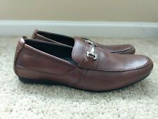 Clark's brown leather horse bit slip on loafers size 11 M