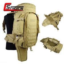 Military Tactical Dual Rifle Backpack Ruckack Shotgun Carbine Gun Bag Case Tan