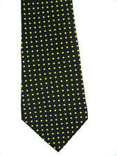 ZYLOS BLACK NECKTIE TIE YELLOW GOLD MICRO DOT 58 X 4