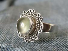 925 STERLING SILVER RING PREHNITE SIZE O 1/2 * US 7.5  SILVERANDSOUL JEWELLERY