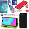 For Huawei Y6 2018/ 2019 Honor 10 PU Leather Stand Flip Wallet Cover Phone Case
