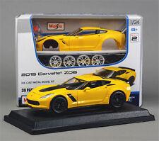 Maisto 1:24 2015 Corvette Z06 Assembly DIY Racing Car Toy Diecast MODEL KITS