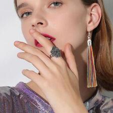 Women Fashion Earrings Jewelry Long Tassel Fringe Boho Hook Drop Dangle Jewelry