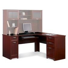 NEW L-Shaped Office DESK (Computer Executive Corner Wood Table) Cherry FREE S&H