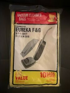 Carpet Care Vacuum Cleaner Bags Upright Eureka F & G 10 pack New