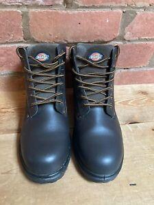 Dickies Men's Antrim Safety Work BOOTS Size-UK 9 -Brown