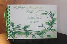Gästebuch zur Taufe . Taufgeschenk Taufbuch , grün