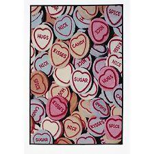 Amore Cuori Multicolore Nylon Tappeto 160cm x 100cm