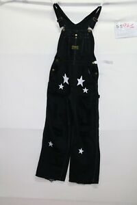 Salopette WASHINGTON DEE CEE (Cod. S961) TgS Nero jeans usato vintage salopet