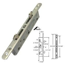 "STB Sliding Glass Patio Door Lock, Mortise Type, 2-Point, 7-51/64"" Screw Holes"