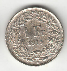 SWISS SILVER 1 FRANC 1945          106S      BY COINMOUNTAIN