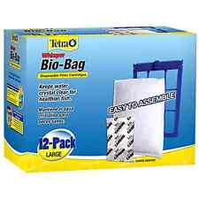 Tetra Whisper Bio Bag Fish Tank Disposable Filter Cartridge Large 12 Pack New .