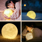 3D Moon Lamp USB LED Night Lights Touch Sensor Color Changing Moonlight Gift NEW