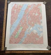 Usgs Vintage Topograpical Map Central Park Manhattan New York