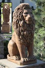"""48"""" Grandessa Sitting Lion - Concrete Cast Stone Garden Statue"""