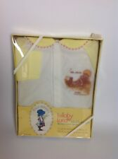 Vintage Holly Hobbie Lullaby Land One Piece Baby Sleep Play Suit Large 14-19 Lbs