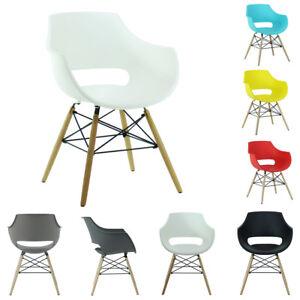 Olivia Eiffel Armchair Dining Lounge Tub Chair Wooden Legs Scandinavian Modern