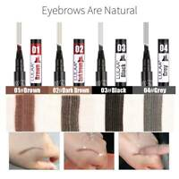 4 Tip Head Eyebrow Tattoo Fork Pen Microblading Eye Brow Enhancer Waterproof
