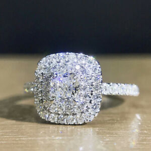 Gorgeous Cubic Zirconia 925 Silver Rings Jewelry Women Wedding Rings Size 6-10