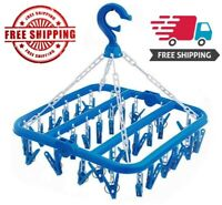 SteelFever Foldable Clip and Drip Hanger with 32 Clips - Hanging Drying Rack NEW
