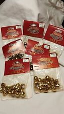 "7/16"" Gold Tone Metal Craft Bell Christmas Jingle Craft Decoration 112 piece"