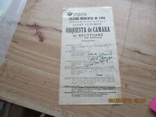 Karl Munchinger Signed Program-5/02/1953 Stuttgart Orchestra w/other signatures