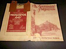 1940-41 DRESDEN programm SCHICHTL im CIRCUS SARRASANI cirque circo programme