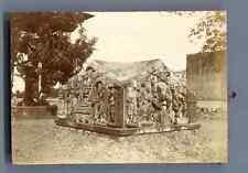 India, Fort de Gwalior sculptures intérieures Vintage citrate print.  Tirage c