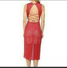 $278 NWT Keepsake The Label Think Twice Lace Red Dress Size Small