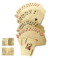 luxus stilvolle poker blattgold überzogen karten spielen tabelle spiele