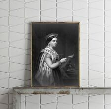 1870 Photo Victoria, Queen of Great Britain and Ireland, 1819-1901 3/4 lgth., st
