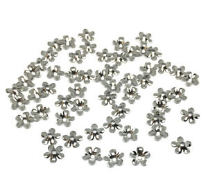 stainless steel flower petal bead caps for 6mm beads