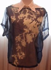 DRIES VAN NOTEN 2PC 100% COTTON WHITE BLOUSE AND 100% SULK BLUE AND WHITE LOOSE