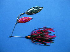 3/8 oz Spinner Bait  BLACK/PINK  bass musky pike jig tackle lure lot T38Wpr9169