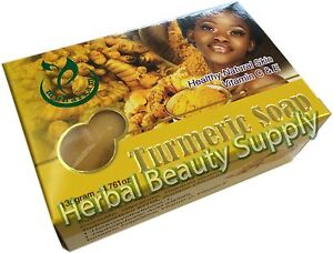 135g Turmeric Soap Healthy Natural Skin With Vitamin C & E Nourishes and Protect
