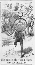 ELGIN NATIONAL WATCHES RACE OF TIME-KEEPERS FATHER TIME HOURGLASS SYTHE