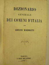 MARZORATTI : DIZIONARIO COMUNI ITALIANI - TORINO 1856