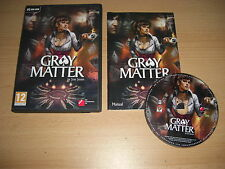 GRAY MATTER Pc DVD Rom Point 'n' & Click Paranormal adventure Grey FAST POST