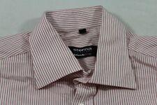 E7488 Eterna Excellent Blackline Businesshemd Kurzarm 40 Rot Weiß gestreift Neuw
