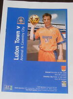 Luton Town -v- Arsenal/Coventry City 1998-1999