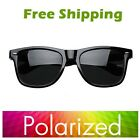 New  POLARIZED Sunglasses Shades fashion retro vintage style black frame