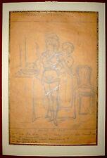 Alfred Grévin 3 dessins crayon sur papier signée le gaulois le charivari erotic