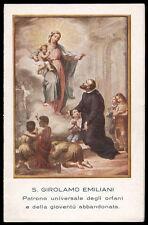 "santino-holy card""S.GIROLAMO EMILIANI"