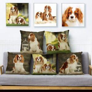 Noble King Charles Spaniel Dog Print Pillow Cushion Cover Throw Pillows Cases