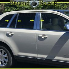 2007-09 10 11 12 13 2014 Ford Edge Lincoln MKX Chrome Pillar Posts 8Pc Stainless