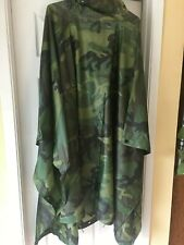 Military Issue Survival Rain Poncho Excellent Condition