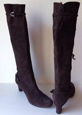 Roberto Del Carlo Brown Suede Boots Heels Women's Size 39/ 8 Italy