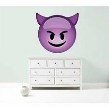 Emoji purple devil giant large big vinyl wall car decal sticker 5 sizes bedroom